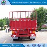 중국제 거위 목 모양의 관 유형 반 50ton 측벽 또는 측 하락 또는 옆 널 또는 대량 화물 트럭 트레일러