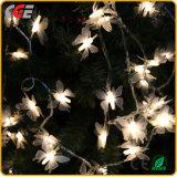 LEDの照明10m100LEDs白いワイヤークリスマスの装飾ゴム製ストリングライト