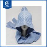 新しい秋の暖かい冬のスカーフの帽子および合接された帽子