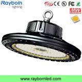 luz do diodo emissor de luz Highbay do UFO 200W que substitui a iluminação ESCONDIDA 400W da oficina