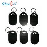 Tarjeta de Control de acceso TK4100 125kHz 13.56MHz Mf lector RFID tags Keyfobs negro para el lector de tarjetas RFID K011