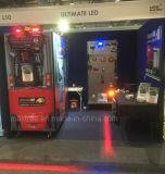 빨간 지역 위험 지역 트럭 안전 경고는 차 빛을 기울인다