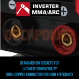230V 200AMP 아크 납땜 지팡이 용접공 MMA 변환장치 용접 기계