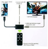 USB Mhl микро- к управлению HDMI HDTV Adapter+Remote для Samsung/HTC/Tablet
