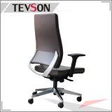 회전대 직원 매니저 PU 두목과 실무자를 위한 가죽 사무실 의자