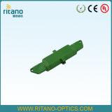 E2000/APC de Optische Adapters van de vezel met Met beperkte verliezen bij 0.2dB met Plastic Groen Huis