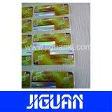 Diseño personalizado impermeable adhesivo ecológica Anti-Fake 10ml frasco de holograma de verificación