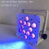 15W 12PCS RGBWA UV 호리호리한 동위 빛