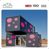 Casa prefabricada del edificio del envase de la oficina del embalaje plano de lujo