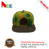 Шлемы Snapback Brim хлопка высокого качества плоские с пряжкой металла