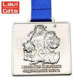 Barato Tigre Personalizado Formato curto de corte de metais Prêmio Animal correr uma maratona Sport medalhas
