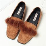 새로운 디자인 Shoes 편평한 스웨드 여가 Maomao 숙녀