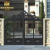 Декоративные современные мощности из алюминия с покрытием наружной сад ворота