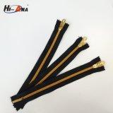 Amostra grátis disponível Ningbo zíper de metal dourado