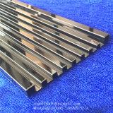 Ligne décorative personnalisée en métal ligne de bâti dans le fini d'acier inoxydable d'or de miroir