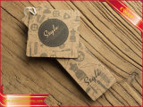 Крафт-бумаги или подвесьте Tag рельефным логотипом Tag швейной Tag