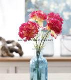 La soie artificielle dans le vase de fleurs de Carnation unique pour la maison décorations