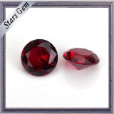 도매가 보석을%s 둥근 합성 물질 5# Ruby 돌