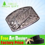 Boucle réglable argentée antique en alliage de zinc/en laiton/occidentale de la mode 3D de vente en gros des prix de constructeur de logo de portée faite sur commande de sangle en métal de Pin de courroie pour le cuir