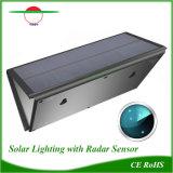 La lumière solaire étanche extérieur de la rue Wall Lamp Capteur de mouvement de radar