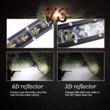 FCC, CE PUNTO Super Slim 6D de fila única Reflector de 30W 8 pulgadas mini Auto Coche en la barra de luz LED