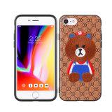 iPhone x 전화 도매를 위한 귀여운 수를 놓은 곰 디자인 이동 전화 상자