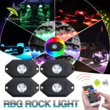 Bluetooth 관제사 4 깍지 8개의 깍지 다색 네온 LED 가벼운 RGB 바위 빛