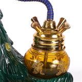 Aleación de zinc Hookah tazón de vidrio botella de la manguera de tubos de agua del tubo de vidrio cristal de la tubería de agua cigarrillo electrónico Pipa pipa de agua E-cigarrillo narguile Shisha Cigarett