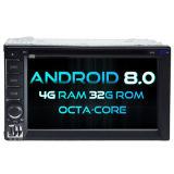 Automobile DVD del Android 8.0 di Octa-Memoria di Witson (memoria otto) per il doppio schermo universale della ROM IPS dello schermo di tocco della ROM 1080P di BACCANO 4G 32GB