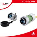 Connecteur optique de signal de fibre avec le verrouillage à vis de 24mm