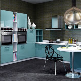 Cabina moderna de los muebles de la cocina de la melamina del MDF con la tarjeta de la laca
