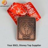 Изготовленный на заказ дешевая золотая медаль выгравированная 3D с внутренним отрезоком вне