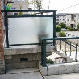 Baranda de cristal templado esmerilado diseñado para la venta