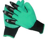 Gants chauds de génie de jardin de vente avec les bouts du doigt en plastique