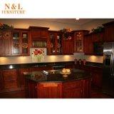 N&L realer Kirscheichen-festes Holz-Küche-Schrank