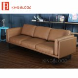Nueva sección en forma de L CONJUNTO sofá de cuero auténtico para el hogar muebles