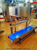 Máquina contínua vertical da selagem do malote do aferidor da faixa com roda do ferro