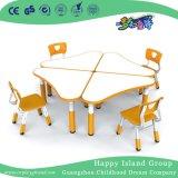 مدرسة رفاهيّة أطفال خشب يحنى طاولة مع حافّة برتقاليّ ([هغ-4905])