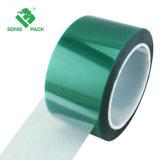 絵画、粉のコーティング、陽極酸化アプリケーションにとって理想的なシリコーンの接着剤が付いている緑ポリエステル高温保護テープ