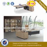 호화스러운 디자인 오피스 가구 L 모양 나무로 되는 사무실 테이블 (NS-D004)
