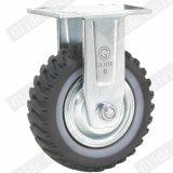 Da roda cinzenta do poliuretano de 6 polegadas roda industrial do rodízio