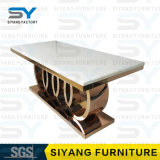 Modern Dining Room Furniture Rectangle Marble Top Dining Counts