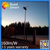 5 années neuves de la garantie 15W-60W de réverbère solaire avec le détecteur de mouvement
