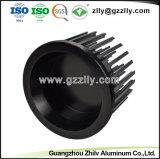 Espulsione di alluminio del dissipatore di calore del cilindro anodizzata il nero LED per illuminazione commerciale