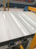 Ls-S003 Silver искусственного камня полированной плиткой белого&слоев REST&место на кухонном столе