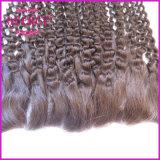 インドのレースの耳の完全なレースの正面閉鎖13X4の人間の毛髪の巻き毛のレースのFrontals (CL18b)への正面閉鎖の耳