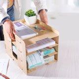 Hölzernes DIY Büro-Speicher-Regal mit 4 Schichten