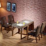 등나무 의자 가죽 식사 의자 B01-9