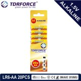 Alkalische trockene Batterie (LR6-AA Größe) mit Cer genehmigte für Spielzeug 8PCS 5 Jahre Lagerbeständigkeits-