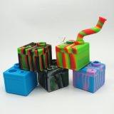 Maken-in FDA van de Producten van de Fabriek van China Rokende Percolator van de Doos van het Silicone de Vierkante met 3ml Container